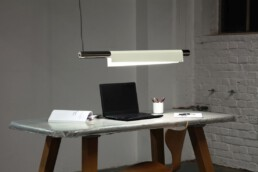 pendant lamp with warm white leds with napkin lampshade for dinner table, kitchen counter, frontdesk and office