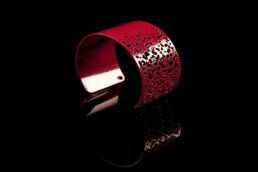 jewellery red bangle bracelet armreif designer schmuck
