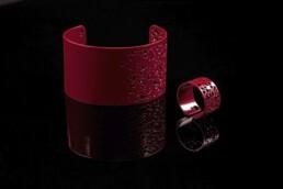 jewellery red bangle bracelet ring armreif schmuck