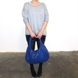 blue light durable shoulder bag purse tasche designer handtasche