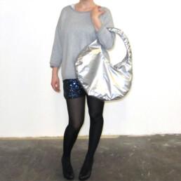 vinyl shoulder bag purse tasche designertasche