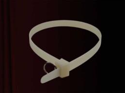 TIE WRAP necklace choker designer jewelry kabelbinder halsband schmuck