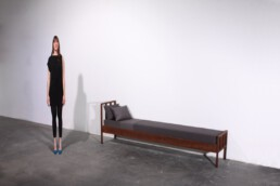 anorexic bed as or very narrow bed as bench or chaise longue anorexia magersüchtiges bett als bank aus der graf seibert psycho furniture collection