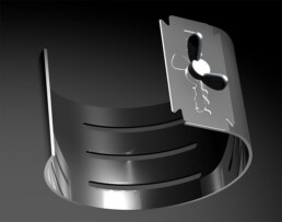 ATTENTION Bangle for multiple use with exchangeable razor blade stainless steel bangle armband